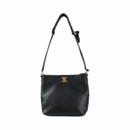 Chanel Hobo Handbag AS0414 Black