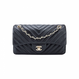 Chanel Small V Type Flap Bag A01116 Black