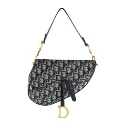 Christian Dior Oblique Saddle Bag M0446 Black