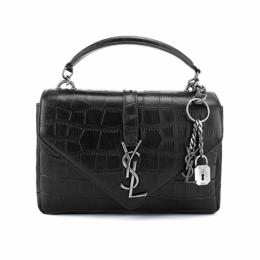 YSL Classic Medium Monogram Saint Laurent College Bag Black