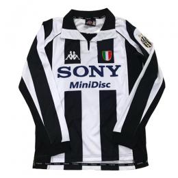 97-98 Juventus Home Black&White Long Sleeve Retro Jerseys Shirt