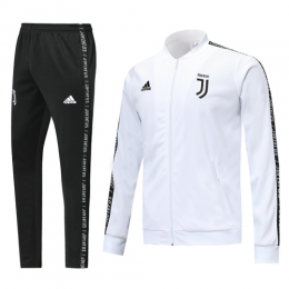 19-20 Juventus White V-Neck Training Kit(Jacket+Trousers)