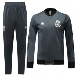 2019 World Cup Mexico Gray V-Neck Training Kit(Jacket+Trousers)