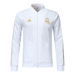 19-20 Real Madrid White V-Neck Training Jacket
