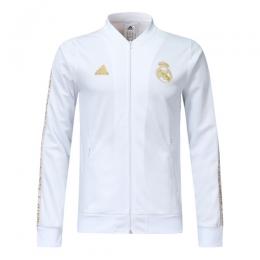 19-20 Real Madrid White V-Neck Training Jacket