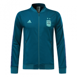 2019 Argentina Blue V-Neck Training Jacket