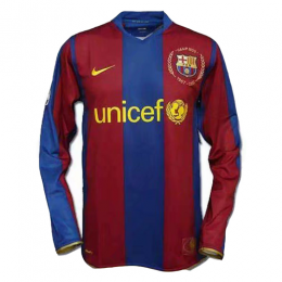 07-08 Barcelona Home 50-Years Anniversary Long Sleeve Retro Jersey Shirt