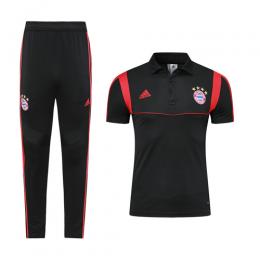 19-20 Bayern Munich Black Polo Shirt Kit(Top+Trouser)