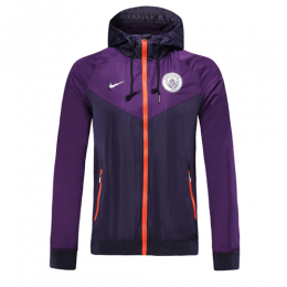 19-20 Manchester City Purple Hoody Jacket