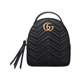 Gucci GG Marmont Quilted Leather Backpack-Black 476671