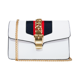 Gucci Sylvie Leather White Chain Bag 494642W