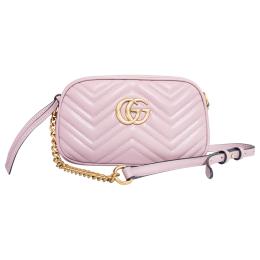 Gucci GG Marmont Matelassé Mini Bag-Pink 448065