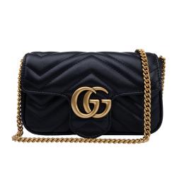 Gucci GG Marmont Matelassé Leather Super Mini Bag-Black 476433B