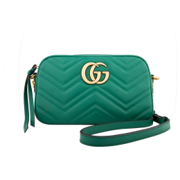 Gucci GG Marmont Small Shoulder Bag-Green 447632