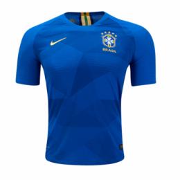 2018 World Cup Brazil Authentic Away Blue Soccer Jersey Shirt