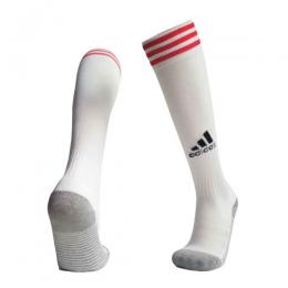 19-20 Ajax Home White Soccer Jerseys Socks