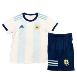 2019 Argentina Home Blue&White Children's Jerseys Kit(Shirt+Short)