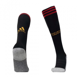 19-20 Manchester United Home Black Jerseys Socks