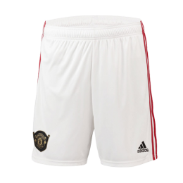 19-20 Manchester United Home White Jerseys Short