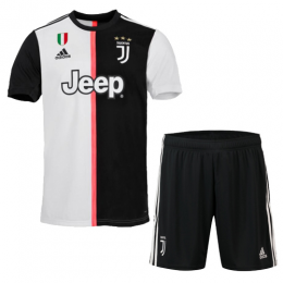 19-20 Juventus Home Black&White Soccer Jerseys Kit(Shirt+Short)