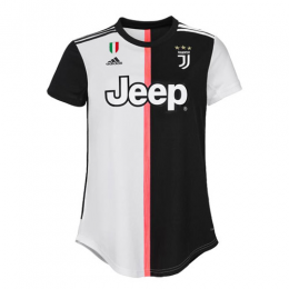 19-20 Juventus Home Black&White Women's Jerseys Shirt