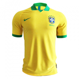 2019 Brazil Home Yellow soccer Jerseys Shirt(Player Version)