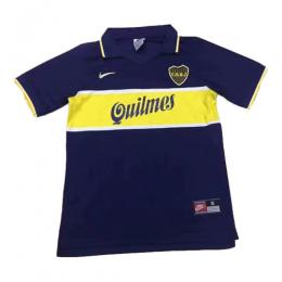 97-98 Boca Juniors Home Blue Retro Soccer Jerseys Shirt