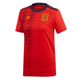 2019 World Cup Spain Home Red Women's Jerseys Shirt