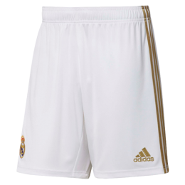 19-20 Real Madrid Home White Soccer Jersey Short