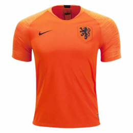 2018 Netherlands Home Orange Soccer Jerseys Shirt