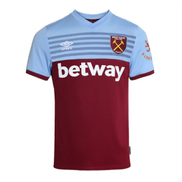 19-20 West Ham United Home Blue&Red Soccer Jerseys Shirt