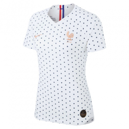 2019 World Cup France Away White Women's Jerseys Shirt