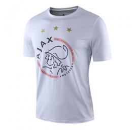 19-20 Ajax Gray Logo T Shirt-White