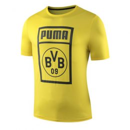 19-20 Borussia Dortmund BVB PM T Shirt-Yellow