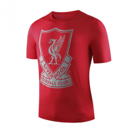 19-20 Liverpool Crest T Shirt-Red