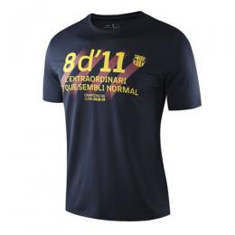 19-20 Barcelona Gold Logo T Shirt-Black