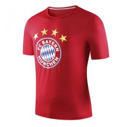19-20 Bayern Munich Logo T Shirt-Red