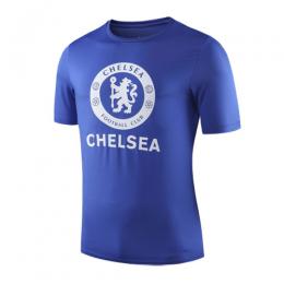 19-20 Chelsea Raised Print T Shirt-Blue