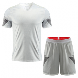 Customize Team Winner Gray Soccer Jerseys Kit(Shirt+Short)