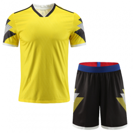 Customize Team Winner Yellow&Black Soccer Jerseys Kit(Shirt+Short)