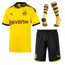 19-20 Borussia Dortmund Home Yellow Soccer Jerseys Whole Kit(Shirt+Short+Socks)