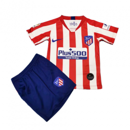 19-20 Atletico Madrid Home Red&White Children's Jerseys Kit(Shirt+Short)