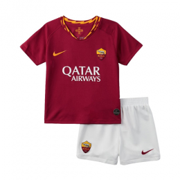 19-20 Roma Home Red Children's Jerseys Kit(Shirt+Short)