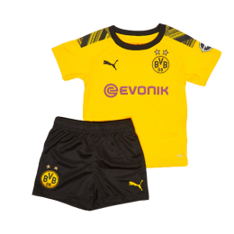 19/20 Borussia Dortmund Home Yellow Children's Jerseys Kit(Shirt+Short)