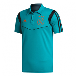 19/20 Ajax Core Polo Shirt-Light Blue