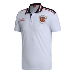 19/20 Manchester United Core Polo Shirt-White