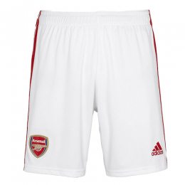 19/20 Arsenal Home White Soccer Jerseys Short