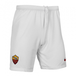 19/20 Roma Home White Soccer Jerseys Short