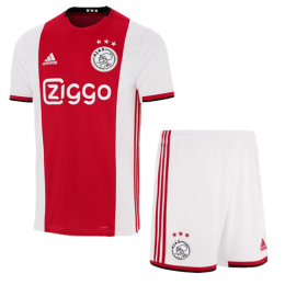19-20 Ajax Home Red&White Soccer Jerseys Kit(Shirt+Short)