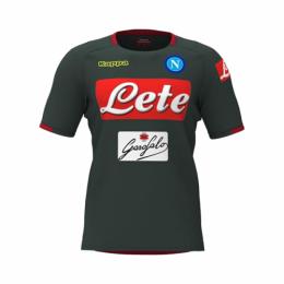 18-19 Napoli Black Training Jersey Shirt